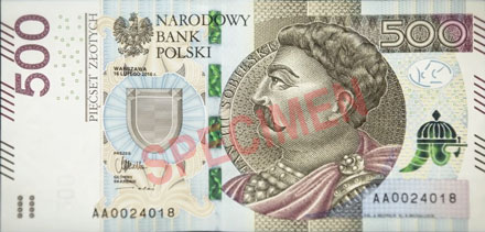 500 Zloty Euro